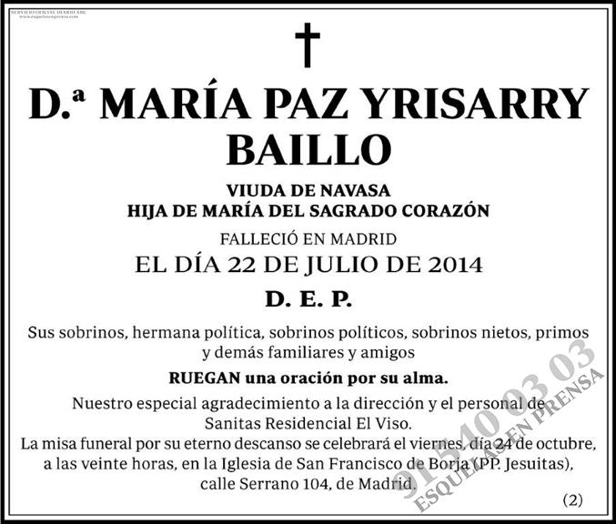María Paz Yrisarry Baillo